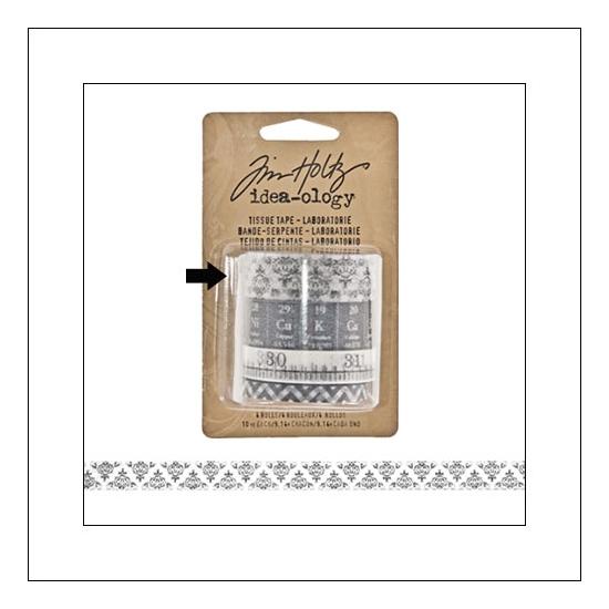 Idea-ology Tissue Tape Roll Laboratories Wallpaper by Tim Holtz