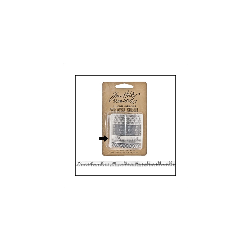 Idea-ology Tissue Tape Roll Laboratories Measuring Tape by Tim Holtz