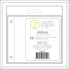 Studio Calico Page Protectors 4 x 4 inches | 2 x 2 pockets Refill Set 2 Seven Paper Amelia Collection