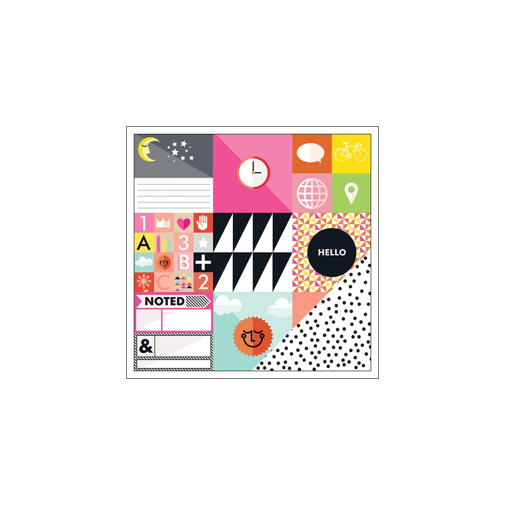 Studio Calico Cardstock Paper Sheet Paper 001 Seven Paper Amelia Collection