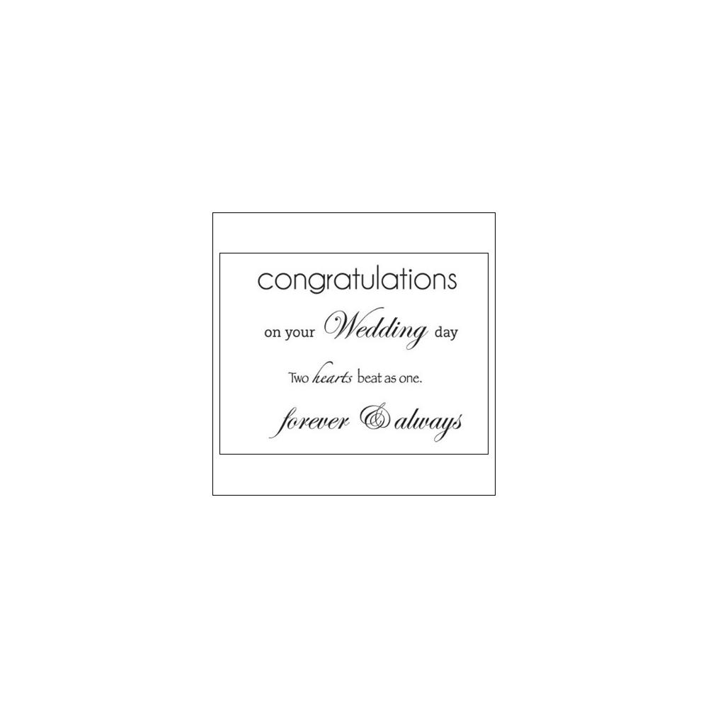 Kaisercraft Clear Stamps Wedding
