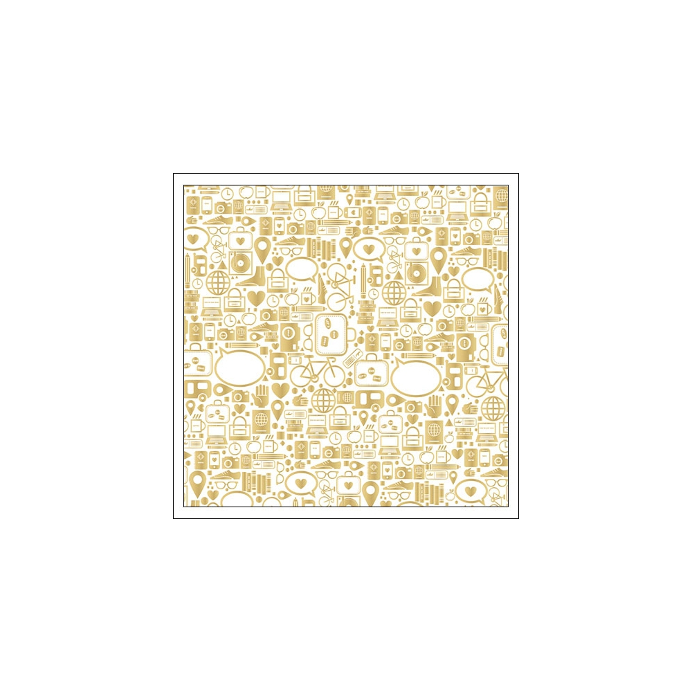 Studio Calico Specialty Paper Sheet Vellum Gold Foil Icons Seven Paper Amelia Collection