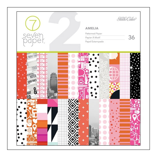Studio Calico Paper Pad 6x6 inches Seven Paper Amelia Collection