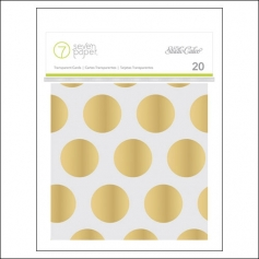 Studio Calico Gold Foil Acetate/Transparent Journaling Cards 4 x 4 inches Seven Paper Amelia Collection