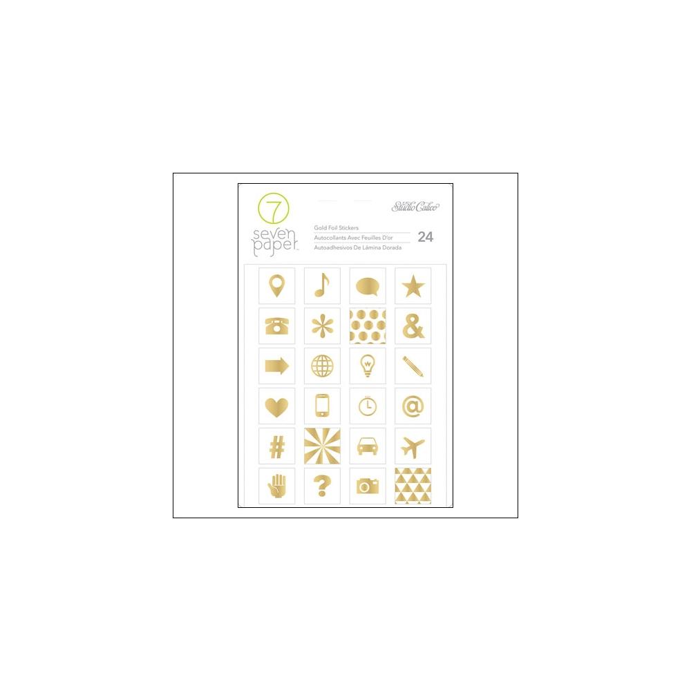 Studio Calico Gold Foil Icon Stickers Seven Paper Amelia Collection