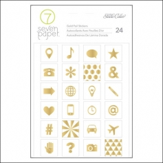 Studio Calico Gold Foil Icon Stickers Seven Paper Amelia Collection