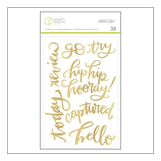 Studio Calico Gold Foil Phrase/Word Stickers Seven Paper Amelia Collection