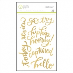 Studio Calico Gold Foil Phrase/Word Stickers Seven Paper Amelia Collection