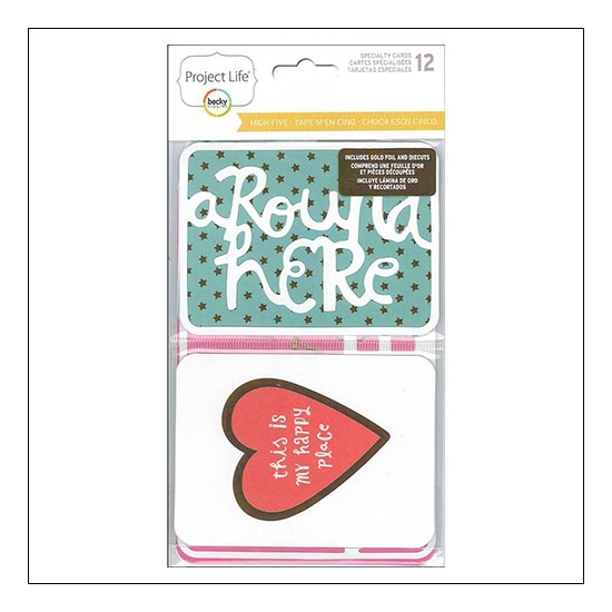 American Crafts Project Life Specialty Cards High Five Collection by Lili Niclass