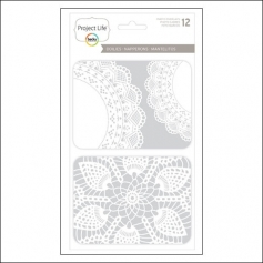 American Crafts Project Life Photo Overlays Doilies by Becky Higgins