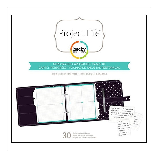 American Crafts Project Life Perforated Card Pages 6 x 8 inches by Becky Higgins