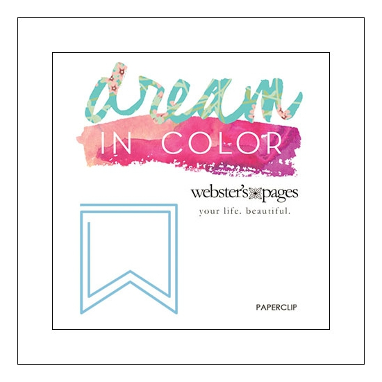 Websters Pages Paperclip Blue Flag Dream In Color Collection