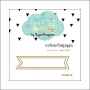 Websters Pages Paperclip Gold Banner These Are The Days Collection by Megan Hoeppner