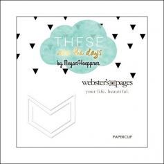 Websters Pages Paperclip White Arrow These Are The Days Collection by Megan Hoeppner