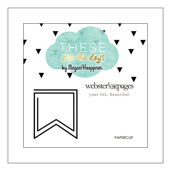 Websters Pages Paperclip Black Flag These Are The Days Collection by Megan Hoeppner