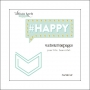 Websters Pages Paperclip Teal Arrow Happy Collection by Allison Kreft