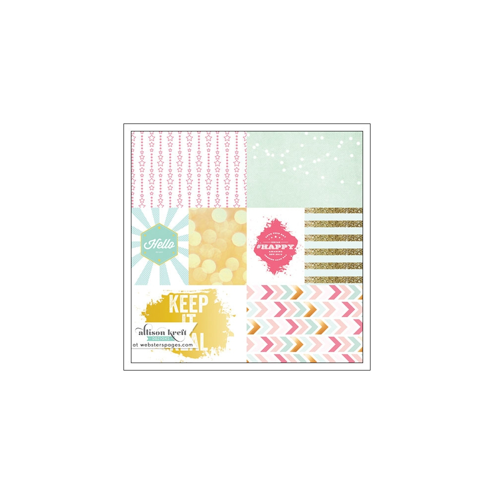 Websters Pages Vellum Paper Sheet Keep It Real Happy Collection by Allison Kreft