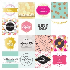 Websters Pages Vellum Paper Sheet Best Day Happy Collection by Allison Kreft