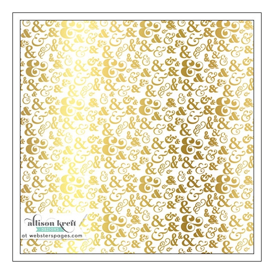 Websters Pages Vellum Paper Sheet Gold Foil Ampersands Collection by Allison Kreft