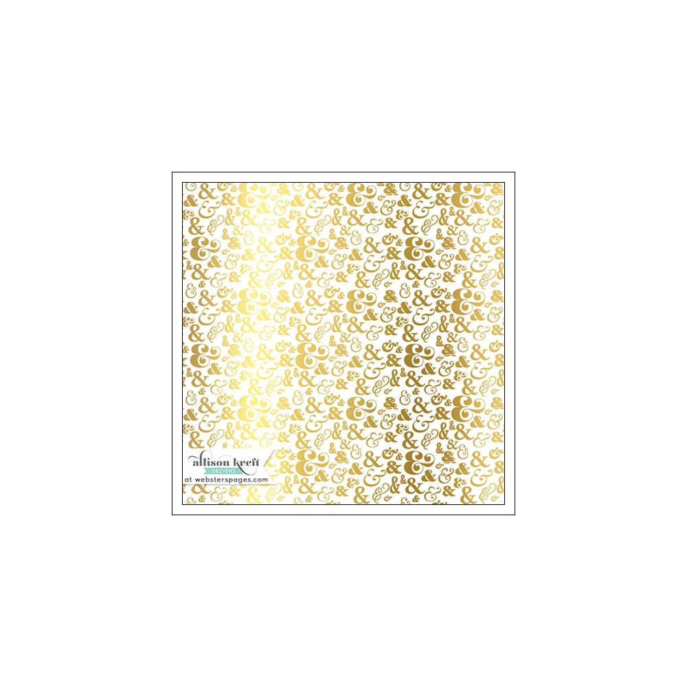 Websters Pages Vellum Paper Sheet Gold Foil Ampersands Collection by Allison Kreft
