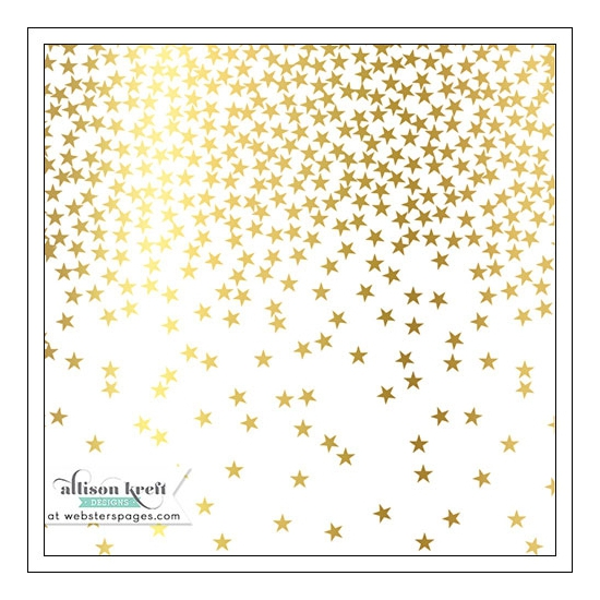 Websters Pages Vellum Paper Sheet Gold Foil Stars Collection by Allison Kreft