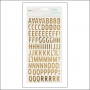 American Crafts Thickers Foam Letter Stickers Gold Foil Woodland Fine and Dandy Collection by Dear Lizzy