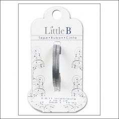 Little B Paper Tape Roll 3 mm Silver Foil Grosgrain