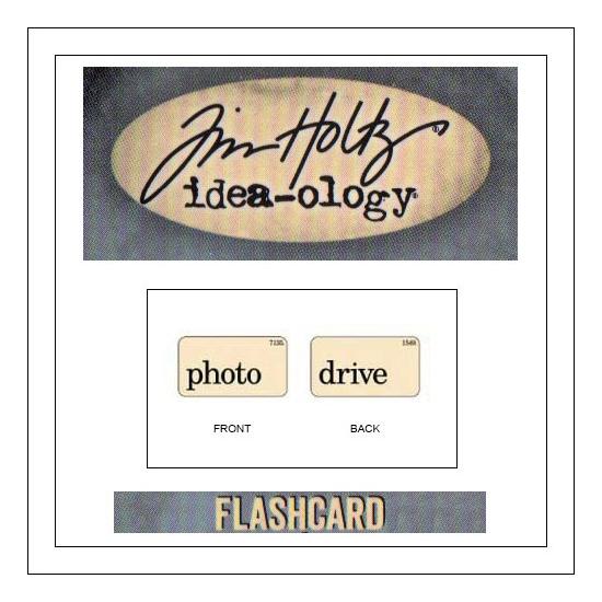 Advantus Idea-ology Elementary Mini Flash Card Photo and Drive by Tim Holtz