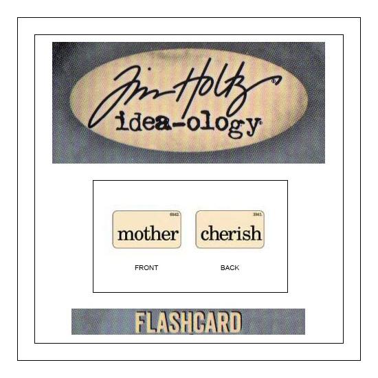 Advantus Idea-ology Elementary Mini Flash Card Mother and Cherish by Tim Holtz