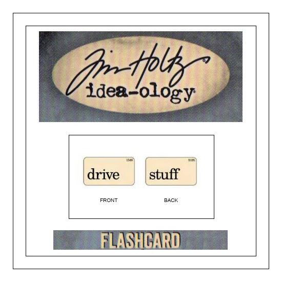 Advantus Idea-ology Elementary Mini Flash Card Drive and Stuff by Tim Holtz