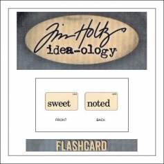 Advantus Idea-ology Elementary Mini Flash Card Sweet and Noted by Tim Holtz