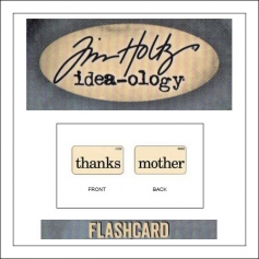 Advantus Idea-ology Elementary Mini Flash Card Thanks and Mother by Tim Holtz