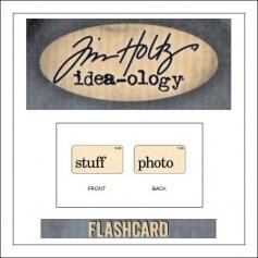 Advantus Idea-ology Elementary Mini Flash Card Stuff and Photo by Tim Holtz