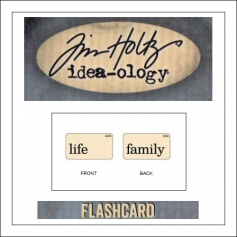 Advantus Idea-ology Elementary Mini Flash Card Life and Family by Tim Holtz