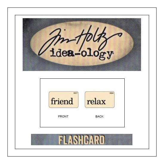 Advantus Idea-ology Elementary Mini Flash Card Friend and Relax by Tim Holtz