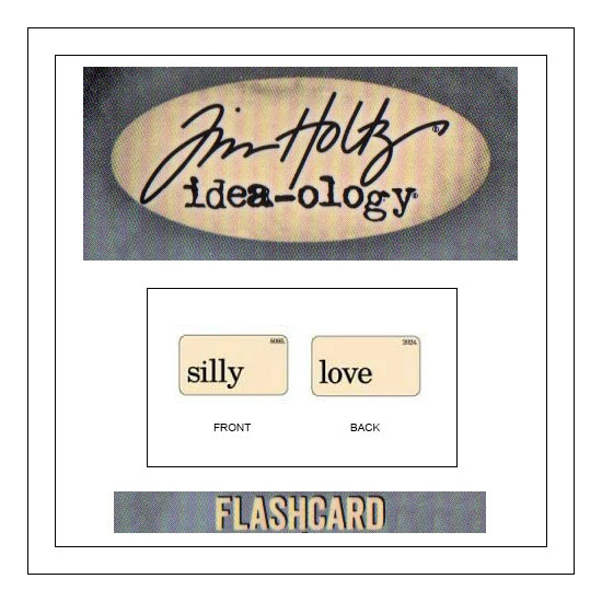 Advantus Idea-ology Elementary Mini Flash Card Silly and Love by Tim Holtz