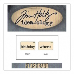 Advantus Idea-ology Elementary Mini Flash Card Birthday and Where by Tim Holtz