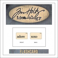 Advantus Idea-ology Elementary Mini Flash Card Adore and XOXO by Tim Holtz
