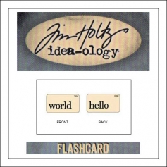 Advantus Idea-ology Elementary Mini Flash Card World and Hello by Tim Holtz