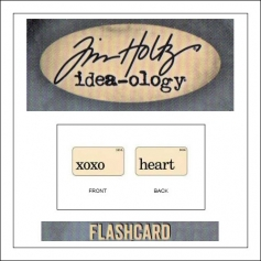 Advantus Idea-ology Elementary Mini Flash Card XOXO and Heart by Tim Holtz
