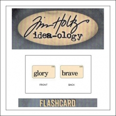 Advantus Idea-ology Elementary Mini Flash Card Glory and Brave by Tim Holtz