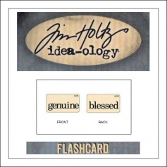 Advantus Idea-ology Elementary Mini Flash Card Genuine and Blessed by Tim Holtz