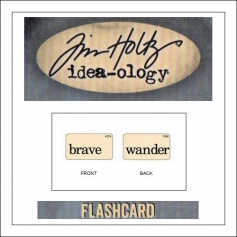 Advantus Idea-ology Elementary Mini Flash Card Brave and Wander by Tim Holtz