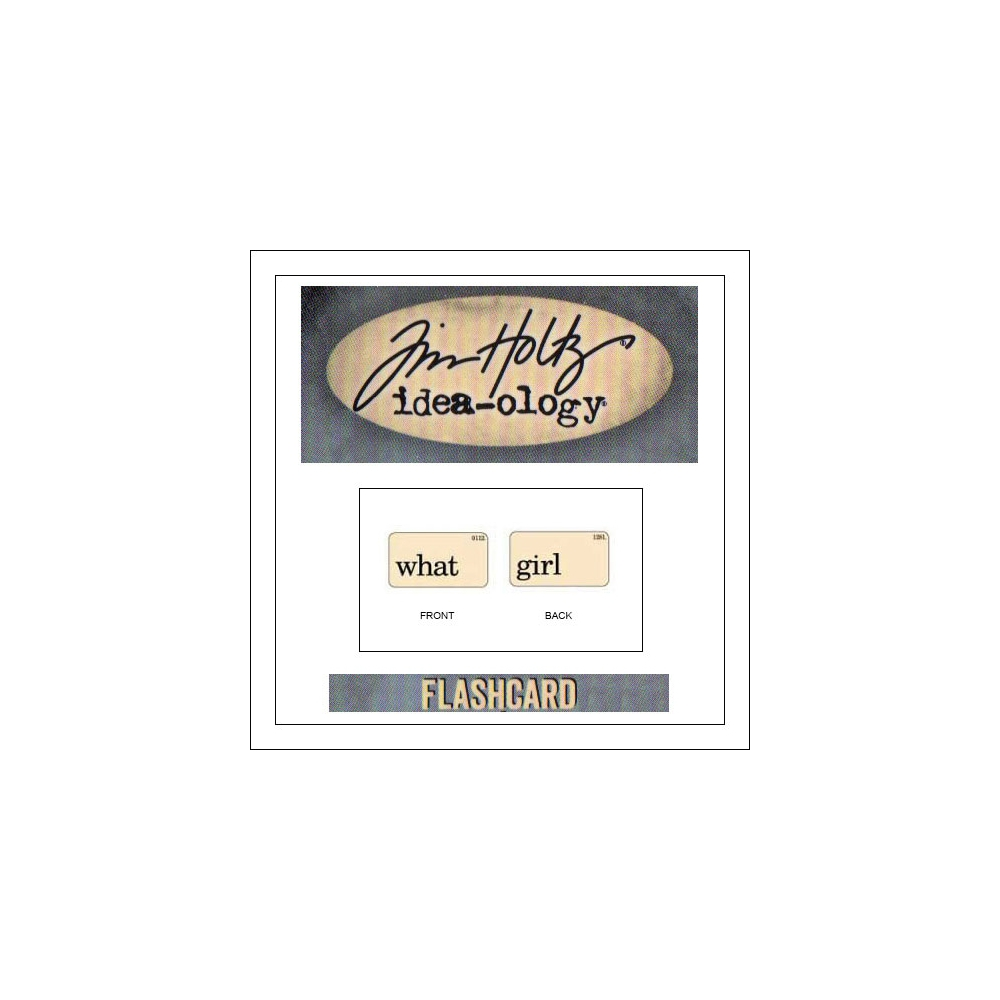 Advantus Idea-ology Elementary Mini Flash Card What and Girl by Tim Holtz