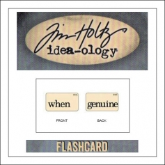 Advantus Idea-ology Elementary Mini Flash Card When and Genuine by Tim Holtz