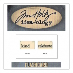 Advantus Idea-ology Elementary Mini Flash Card Kind and Celebrate by Tim Holtz
