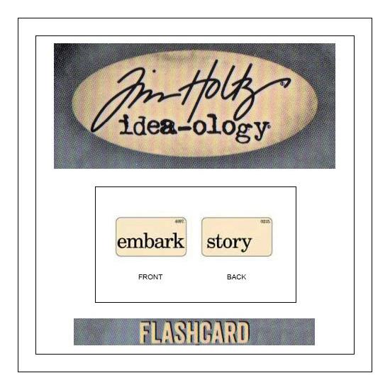 Advantus Idea-ology Elementary Mini Flash Card Embark and Story by Tim Holtz