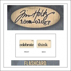 Advantus Idea-ology Elementary Mini Flash Card Celebrate and Think by Tim Holtz
