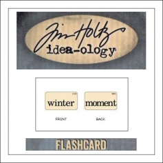 Advantus Idea-ology Elementary Mini Flash Card Winter and Moment by Tim Holtz