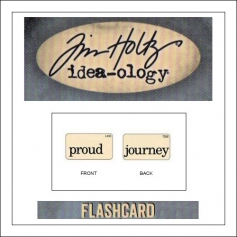 Advantus Idea-ology Elementary Mini Flash Card Proud and Journey by Tim Holtz